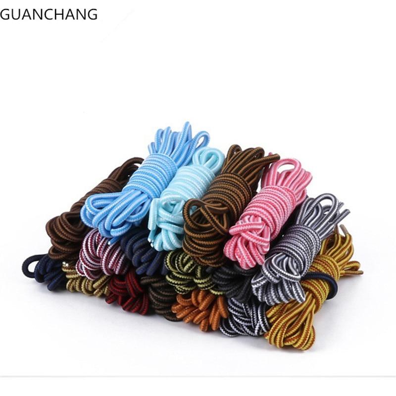 где купить Wholesale Fashion  Sneaker Shoe Lace Double Striped Braid Round Rope Shoelaces Boot Laces Strings Cordones Zapatillas Solid по лучшей цене