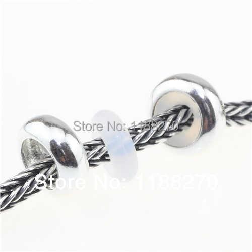 5 шт.. Подвеска из стерлингового серебра 925 пробы, маленькая дужка для пирсинга с белым и черным резиновым сердечником в европейском стиле, подходящая цепочка со змеями и браслетом