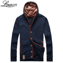 LOMAIYI Brand 2017 Hoodies Men Sudaderas Hombre Hip Hop Men's Streetwear Hoody Button Hoodie Sweatshirt Slim Fit Mantle,BM084