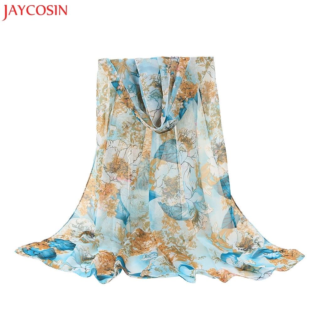 f311b502d17 JAYCOSIN Fashion Women Flower Chiffon Printing Long Soft Wrap Scarf Shawl  Scarves z0922