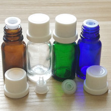 10ml Blue/Amber/Green/Clear Glass bottles with White Dropper caps!if you order over 336pcs, price 10%off !(China)