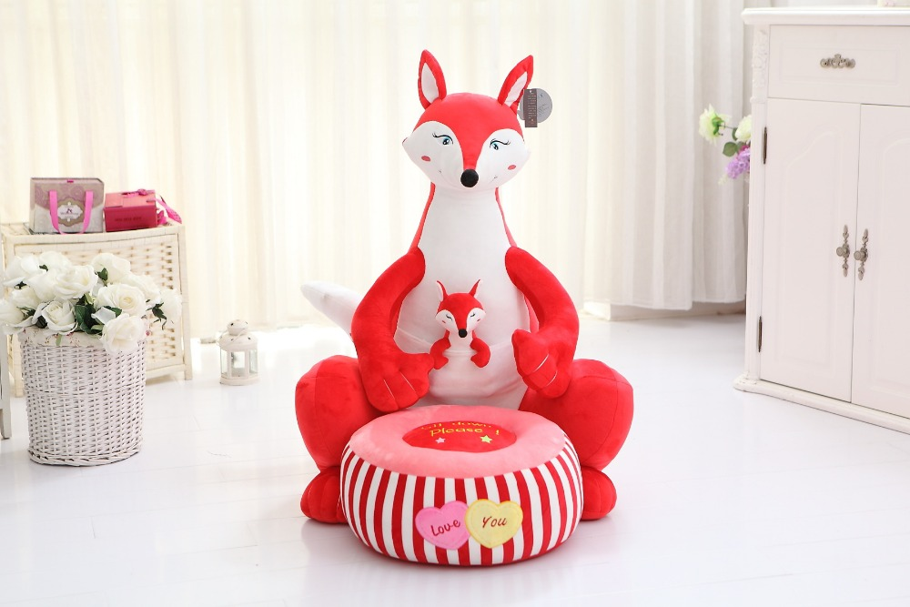 new big plush fox toy cartoon red fox sofa children's tatami gift about 70cm stuffed lovely blue cat children sofa toy cartoon plutus cat tatami sofa toy gift about 50x45cm