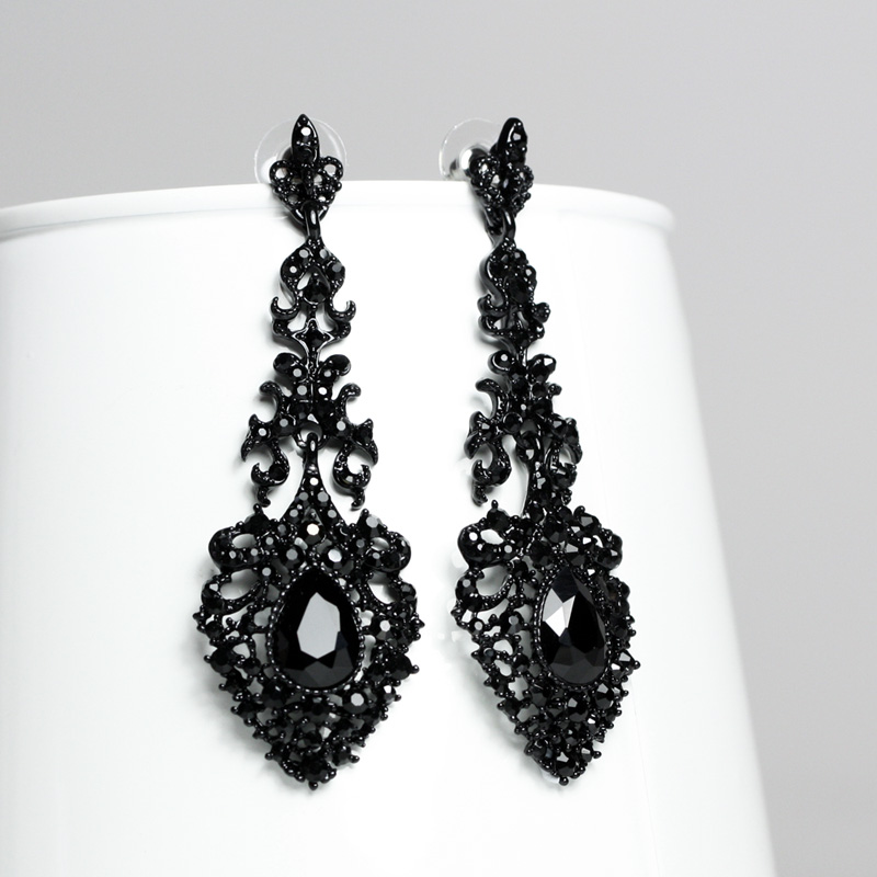 Positive Feedback Is Very Important To Us Pls Contact Before You Leave Neutral Or Negative About New Black Crystal Earrings For Women