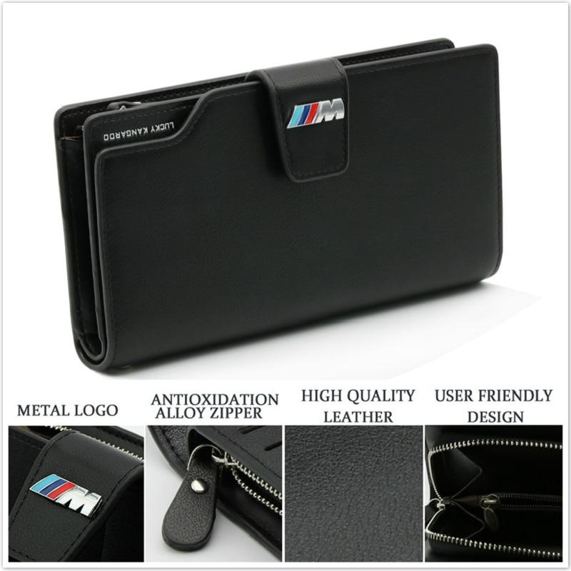 Genuine Leather License Credit card bag Wallet For BMW E46 E39 E90 E91 E92 E93 F30 F31 F35 F80 F10 F01 F02 F03 F04 3 5 7 series neri karra 0579 3 01 90 3 01 91