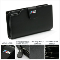 PU Leather Wallet License Credit Card Bag For BMW X5 E46 E39 E90 E91 E92 E93