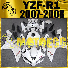 Motoegg Injection Mold Fairing Heat For YZF R1 07-08 YZF-R1 Plastic White Y17M08   Motorcycle ABS plastic