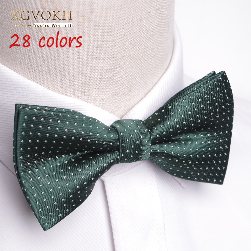 28 gaya Lelaki Formal komersial Gentleman bow tie tie kupu-kupu cravat bowtie male solid marriage marriage bow tie for men dress