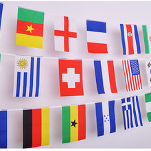 189ac83cd7b European Cup State flags bar fans decoration String flag National flag  Bunting Party decoration 25M~