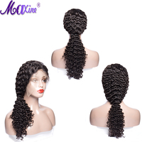 Maxien 180% Density Full lace front human Peruvian Deep Wave Wig 13*4 Lace Front Human Hair Wigs Human Hair Wigs Remy hair
