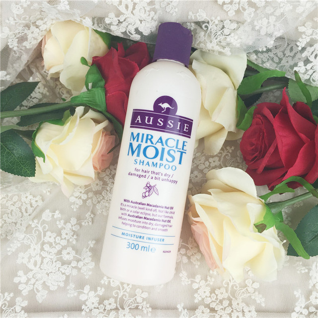 British Aussie kangaroo miracle natural plant Shampoo 300ml moisturizing Aussie Miracle Moist Shampoo For Dry & Damaged Hair