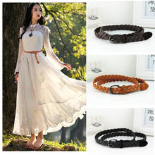 Hot Sell New Womens Belt New Style Candy Colors Hemp Rope Braid Belt Female Belt For Dress(China)