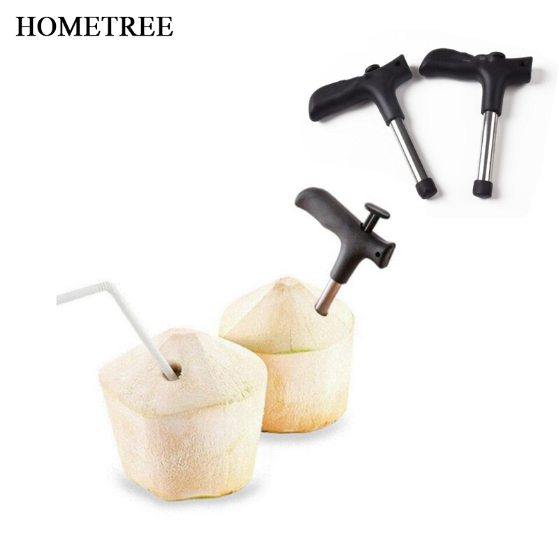 HOMETREE Multifunction Kitchen Accessories New Durable Stainless Steel Coconut Opener Opening Driller Cut Fruit Tools Knife H745