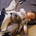 Зима детские кролик лиса двойной слой тяжелых хлопка трикотажные одеяло животных одеяло детский сад одеяло фотографии с помощью двух