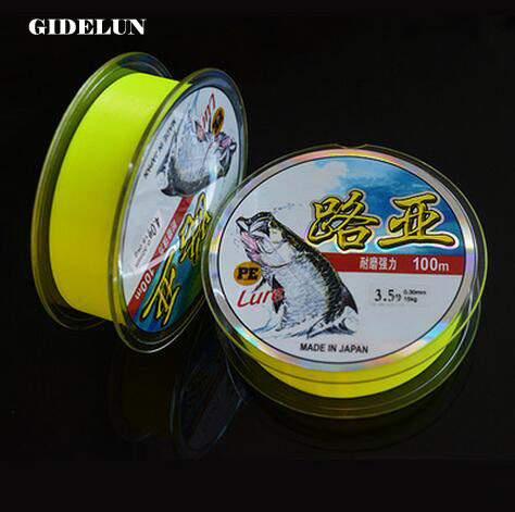 hot sale 100m fishing line Japan Nylon line durable various size super strong fishing line fishing tackle