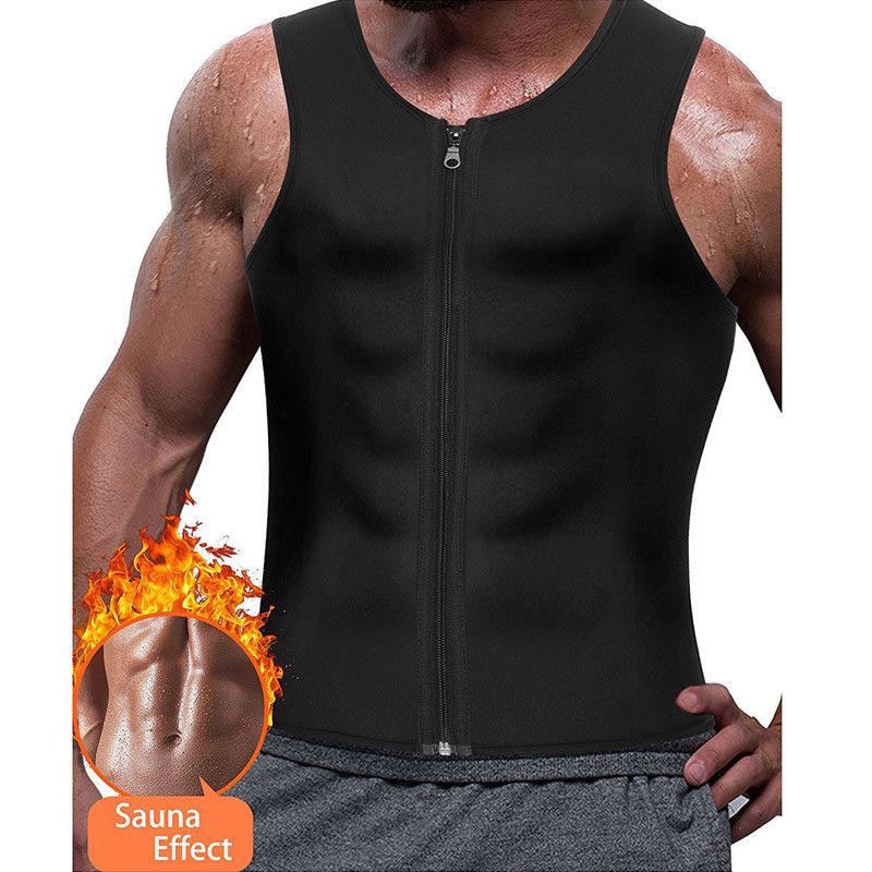 Dropship 2019 New Men's Slimming Neoprene Vest Sweat Shirt Body Shaper Waist Trainer Shapewear Men Top Shapers Clothing Male
