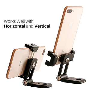 Image 3 - Складной мини штатив Ulanzi для телефона, адаптер с вертикальным вращением на 360 градусов, штатив подставка для iPhone X, 8, 7, Samsung S8, 7, Redmi