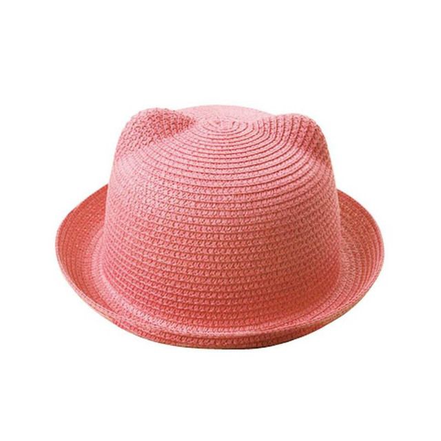 Senza Fretta 2018 New Sun Hats Summer Lovely Cat Ear Sun Hat Summer Hats  Women   374a699effa