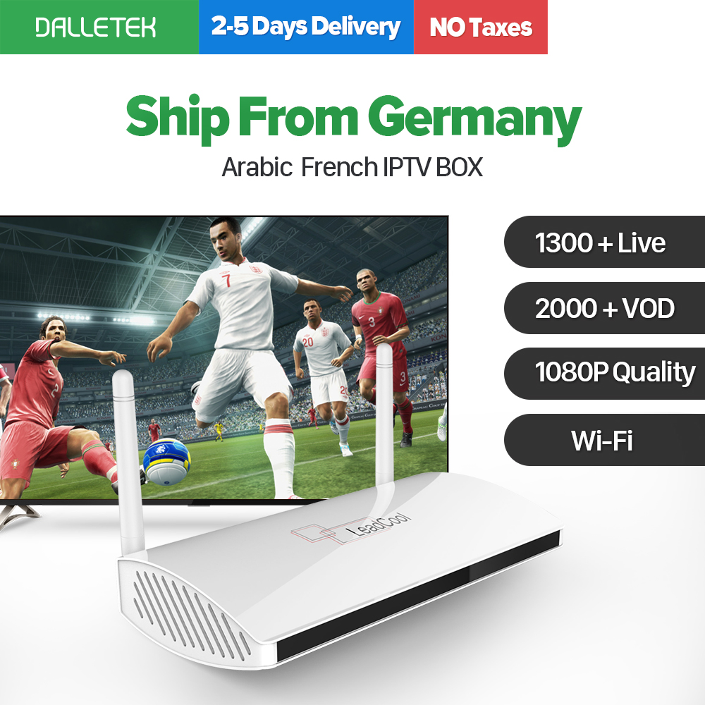 купить French Arabic IPTV Box Leadcool Android TV Box Spain UK Italy Europe IPTV 1300 QHDTV Abonnement Live Sports IPTV Subscription недорого