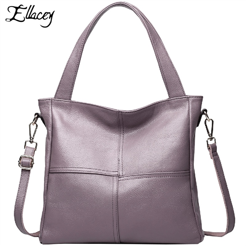 2017 New High Quality Bag Women Handbag Luxury  Tote Bag Ladies Shoulder Messenger Genuine Leather Hand Bags 2017 new elegant handbag for women high quality split leather female tote bags stylish red black gray ladies messenger bag