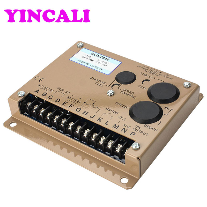 High Quality Diesel Generator Speed Controller ESD5500E Speed Control Board Control Unit Speed Governor Suit 12 or 24 VDC speed control esd5550e generator diesel governor page 8