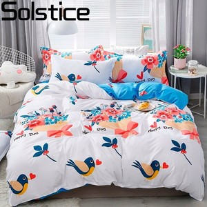 Solstice Home Textile King Queen Twin Bed Linens Black Shooting Star Duvet Cover Sheet Pillowcase Boy Kid Teen Girl Bedding Sets(China)