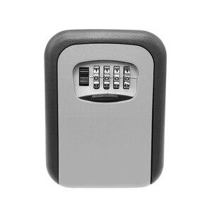 Image 2 - Key Safe Box Security Key Holder Key Storage Lock Box 4 Digit Combination Lock Box Wall Mounted Lock Box