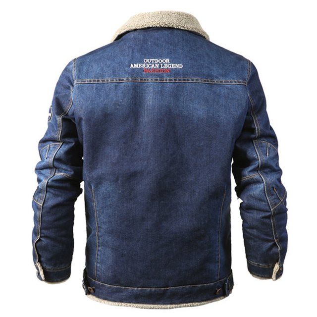 MAGCOMSEN Mens Jackets Winter Warm Demin Jacket Thicken Vintage Jeans Coat for Men Outwear Clothing Plus Size 6XL AG-MG-01 4