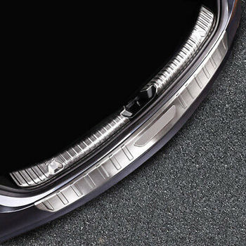 3* Outer + Inner Rear Bumper Protector Sill Plate Cover For Tesla Model 3 18-19