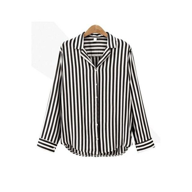 1e642d4fc4 2018 Nowa Wiosna Jesień Kobiety Bluzka V-Neck Z Długim Rękawem Koszule  Robocze Kobiety biuro