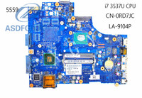 Laptop Motherboard la 9104p For Dell 15R 3521 5521 Motherboard CN 0RD7JC 0RD7JC RD7JC DDR3 Integrated 100% ok
