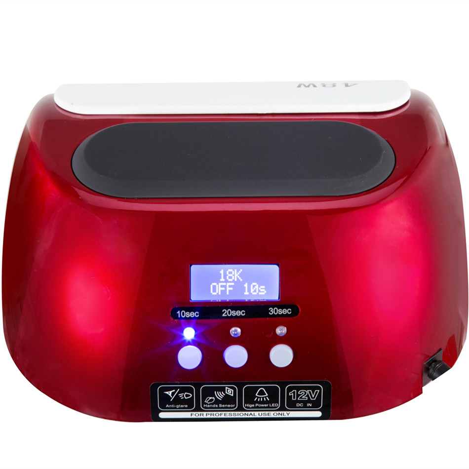 18K 48W LED UV Lamp Nail With LCD Display Screen Professional Nail Dryer Curing UV LED Gel Nail Tools Automatic sensor in Nail Dryers from Beauty Health