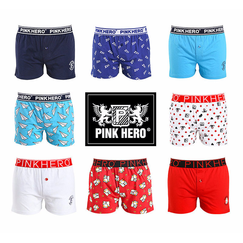 Trustful Pink Heroes Men Underwear Boxers Ocean Wind Cotton Sexy Men Boxer Underwear Striped Wave Print Mens Shorts Boxer Panties Cuecas Underwear & Sleepwears