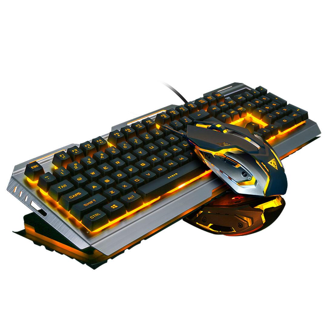 V1 Wired Backlit illuminated Multimedia Ergonomic Usb Gaming Keyboard Gamer + 3200DPI Optical Pro Gamer Mouse PC Laptop Computer original zowie gear fk2 fk 1 fk1 gaming mouse usb wired 3200dpi optical ergonomic zowie mouse mice for cs fps gamer