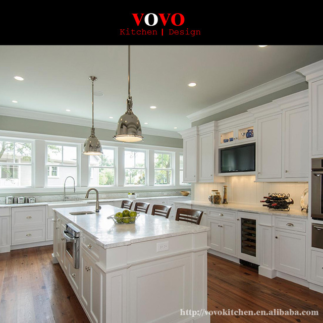 Modern Kitchen Furniture Shaker Style Solid Wood Kitchen Cabinet In