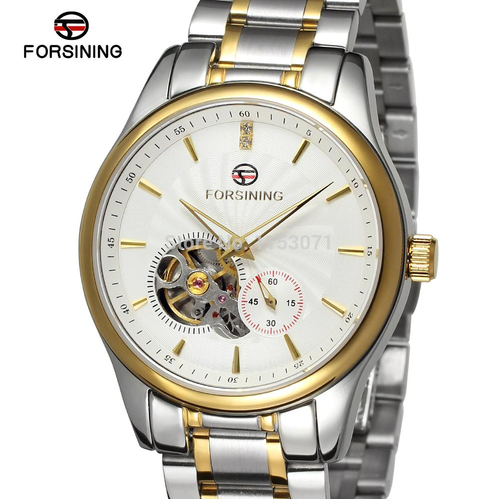 ФОТО FSG9406M4T1 Men's  Automatic stainless steel original luxury watch with stainless steel band free shipping  gift box promotion