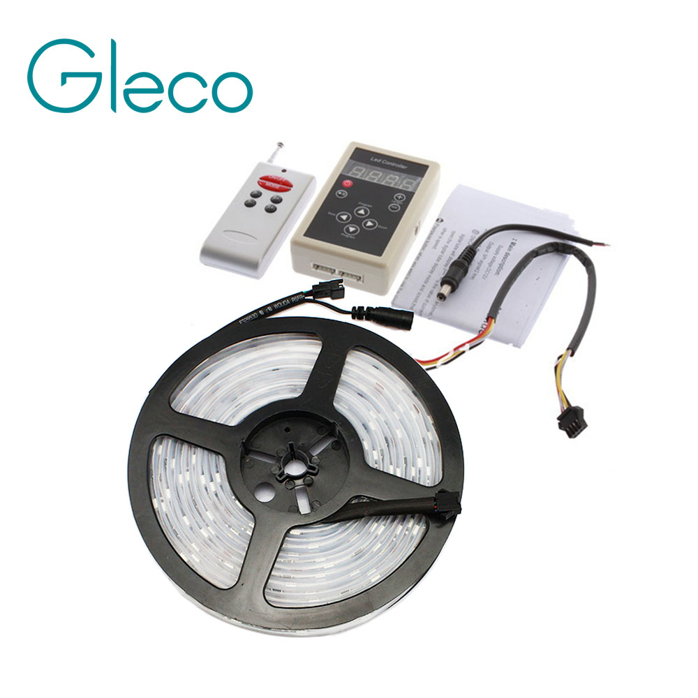 DC12V 5M 6803 IC Dream Magic Color LED Strip 5050 RGB 6803 LED Strip Light IP67 Waterpro ...
