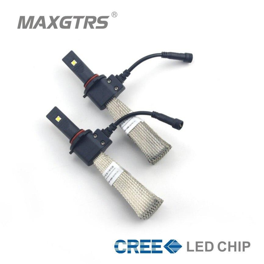 2x 5000LM 9005 9006 HB3 H7 H8 H11 9012 Cree Chip LED Headlight Kit Car Driving Lamp Bulbs White Automotive Auto Light Sourcing