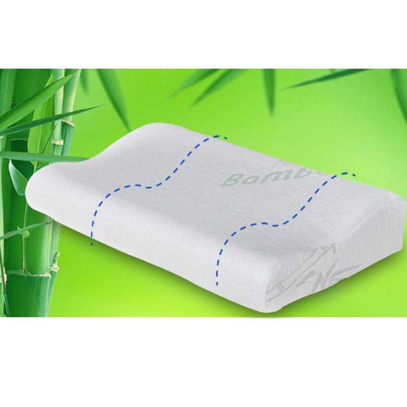 Lateks Berkualitas Tinggi Bantal Lambat Rebound Bahan Pijat untuk Leher Bantal Tidur Menggunakan Rumah Tempat Tidur Serat Bambu Ingatan Busa Bantal