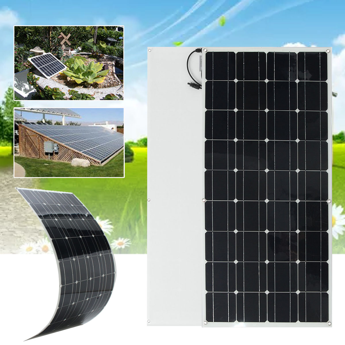 KINCO Flexible Solar Panel Plate 200W 18V Solar Charger For Car Battery 12V Sunpower Monocrystalline Silicon Cells Module Kit fashion laptop sleeve for macbook air 13 pro 13 15 case waterproof felt laptop bag case for xiaomi notebook air 13 3 laptop bags
