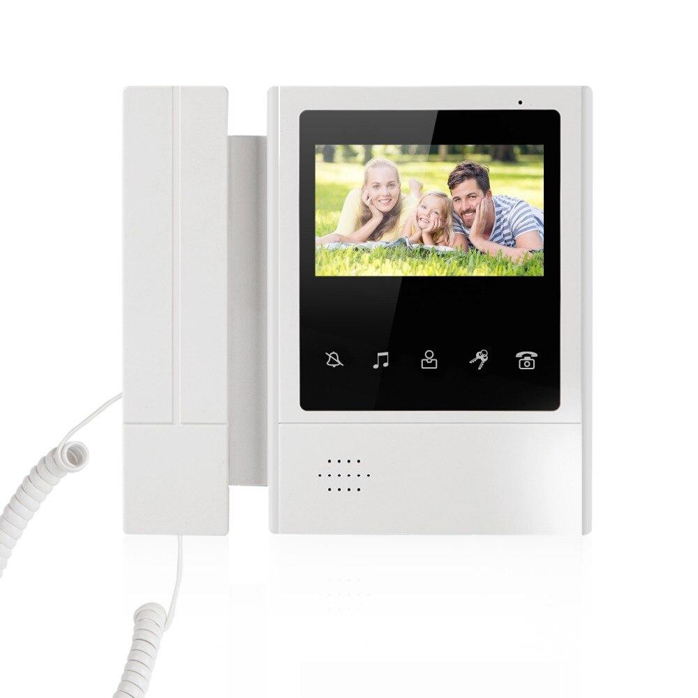 SmartYIBA Video Intercom 4.3 Inch Color TFT Monitor Wired Video Door Entry System Video Door Phone Doorbell Intercom Monitor 4 3 inch tft monitor intercom video door phone xsl 43e m