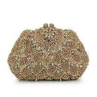 Для женщин Вечерние сумки золото женские вечерние свадебные Клатчи мешок золота роскошный кристалл партии алмазов кошельки (88215 gg)