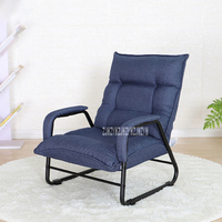 015HIC Foldable Single Living Room Sofa 3 Gear Adjustment Simple Modern Balcony Bedroom Sofa Lounge Chair Computer Lazy Couch