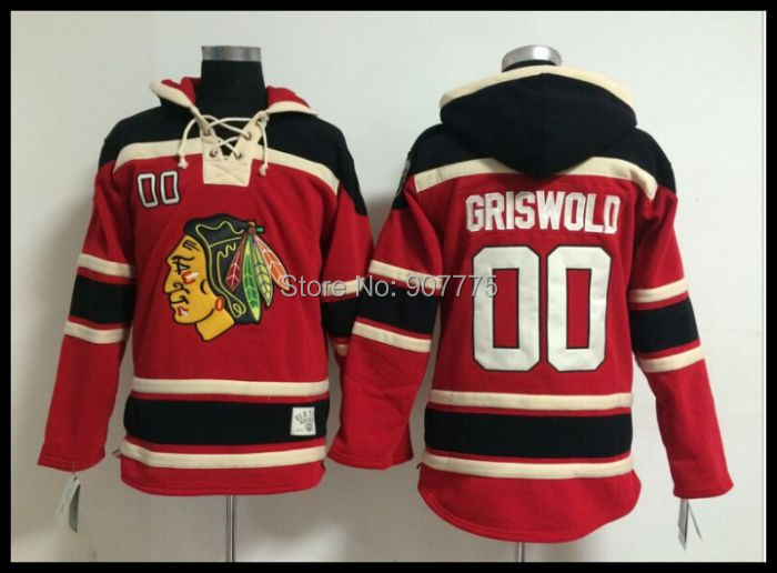 Red Kids Hoodie Old Time Hockey Chicago Blackhawks 00 Clark Griswold 2  Duncan . ad8df5cfd