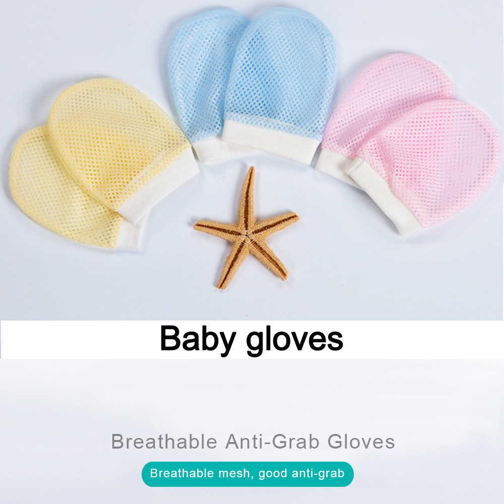 1 пара для безопасности ребенка детские перчатки варежки для новорожденных Анти-Царапины дышащая сетка анти-захват митенки, перчатки рукавички