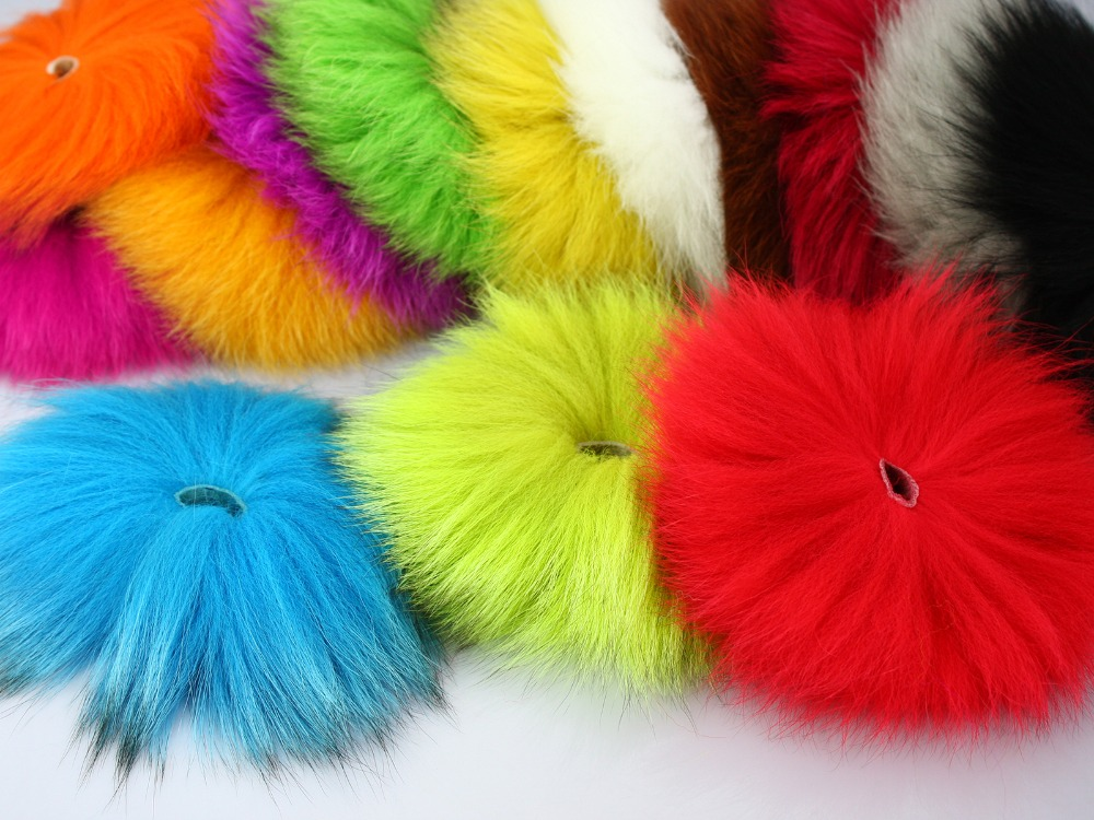 Dyed Arctic Marble Fox Tail Hair Fly Tying Material - 2 pcs per pack