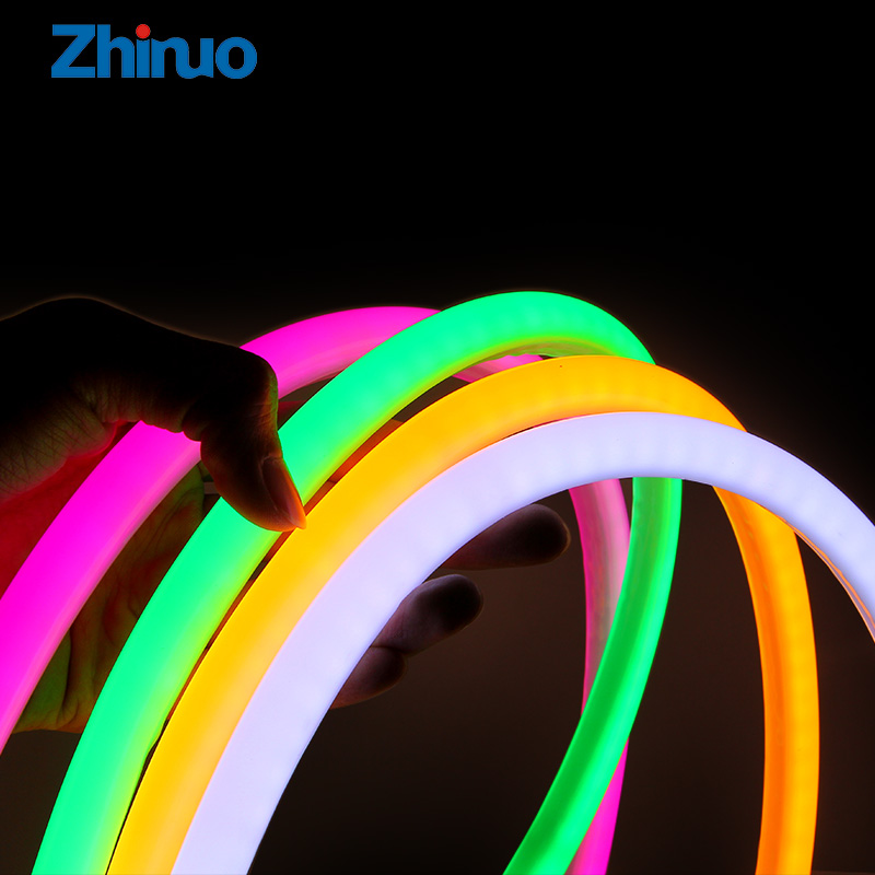 Neon Light Flexible LED Strip DC12V Round Tube SMD2835 Waterproof Soft Flex Light Strips Car Holiday DIY Halloween Xmas Lights image