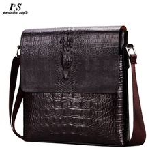 Luxury Embossed Alligator Pattern Men Fashion Design High Quality Messenger