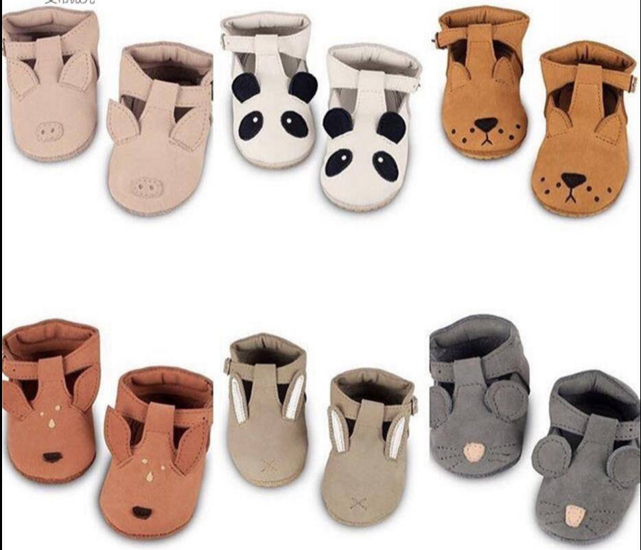 2018 Summer Brand Animal Prints Cartoon Baby Shoes Toddler Genuine Leather Shoes Infant Girl Boys Soft Sole Baby Moccasins Boots