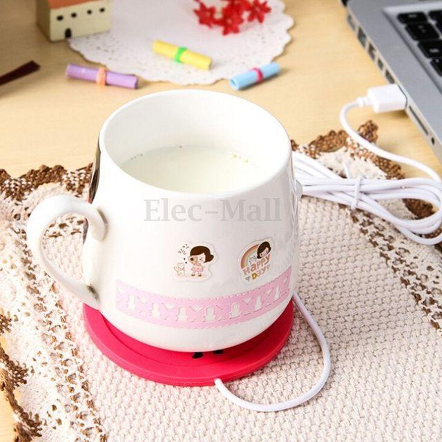 5 V USB calentador de calor de silicona leche té taza de café bebidas calientes taza de bebida