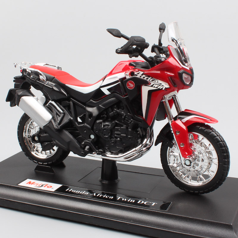 1:18 scale Maisto honda CRF1000L Africa Twin DCT 2016 adventure touring sport diecast motorcycle toy model off-road bike vehicle 1 12 scale mini kawasaki ninja zx 6r sport bike metal motorcycle diecast sport road racing model collection car toy for children